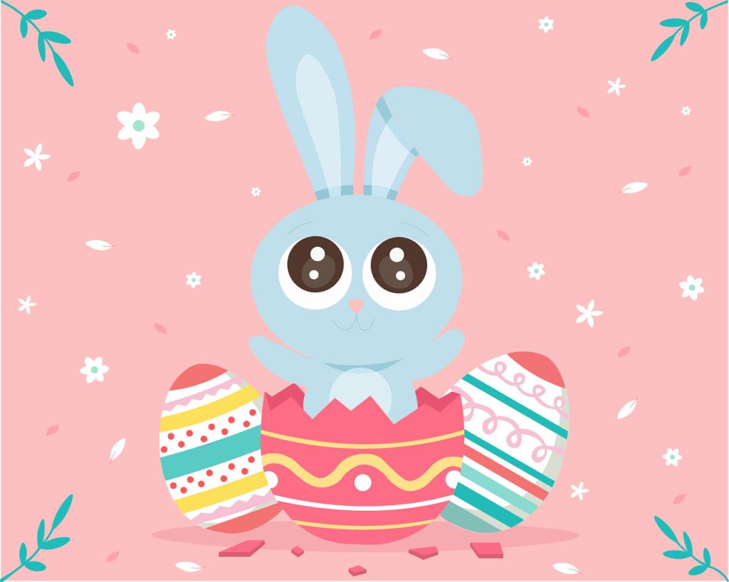 Easter Rabbit Egg Cute Spring